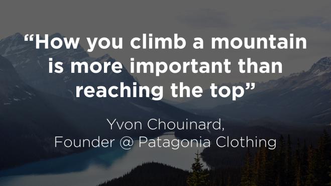 How you climb